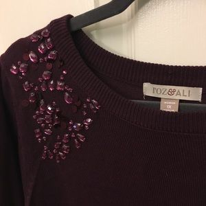 Roz & Ali embellished sweater